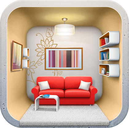 Ios icons design for Interior design decoration app
